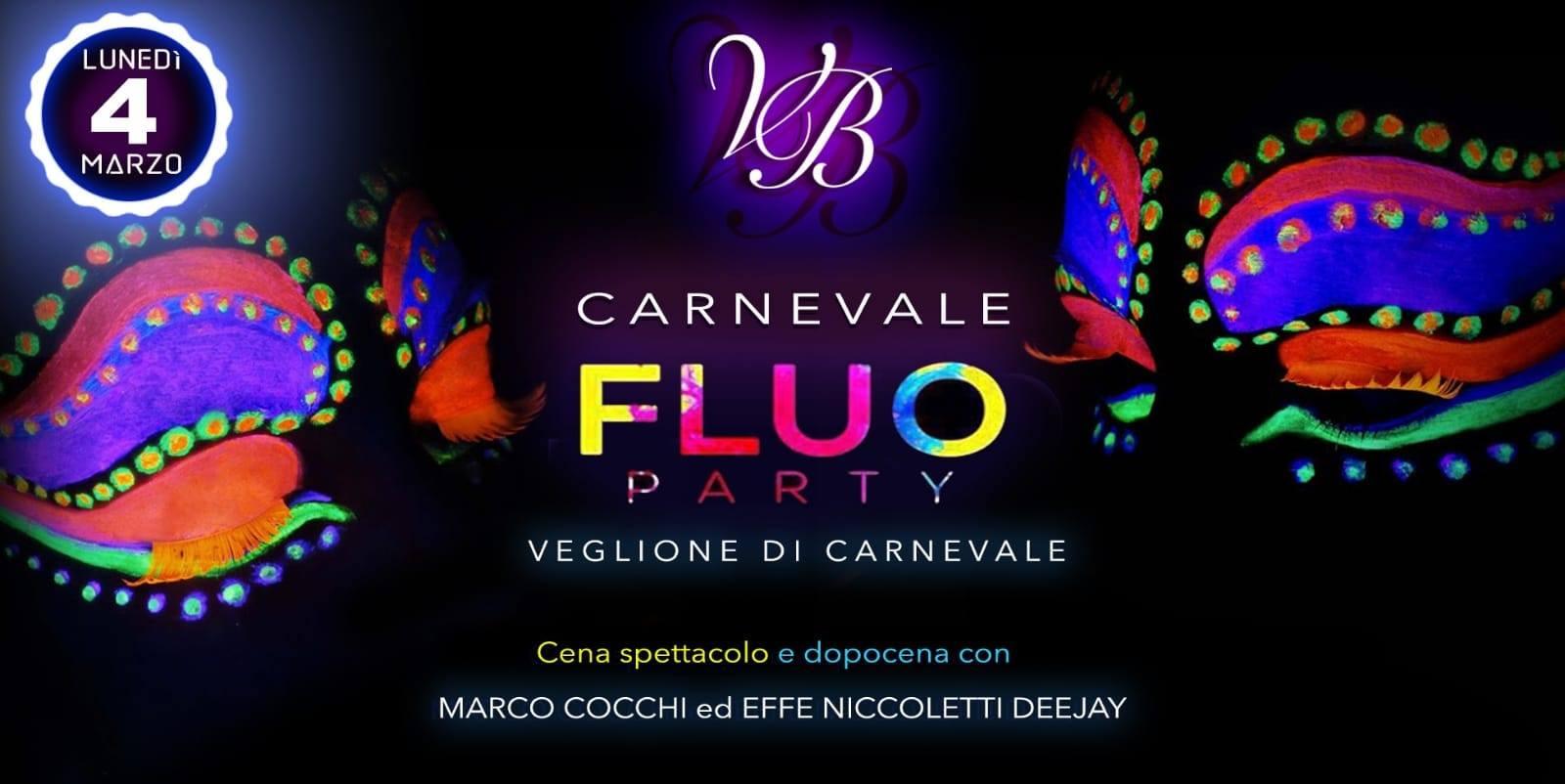 Veglione di carnevale FLUO PARTY VILLA BIANCA 4 MARZO